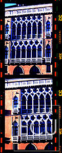 Color photo of a palazzo on the Grand Canal in Venice, Italy illustrating Venetian baroque architecture and design